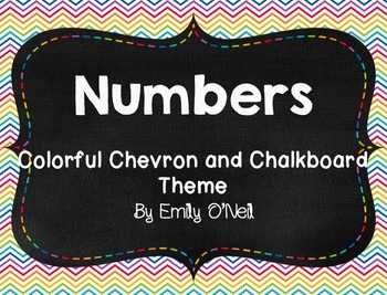 Numbers (Colorful Chevron & Chalkboard Theme)