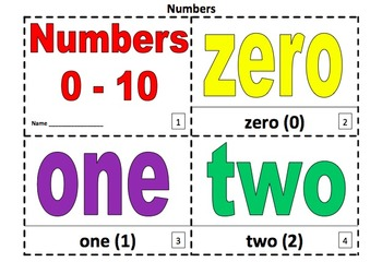Numbers 2 Coloring Booklets With Numbers 0-10