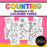 Numbers Coloring Pages Printables   Counting 1-10   Presch