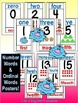 Numbers & Colors Classroom Posters & Bookmarks VERSION 2 with Ordinal Words