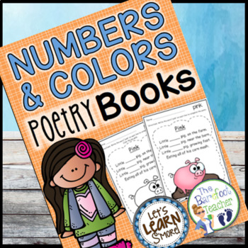 Poetry Books, Numbers and Colors Fill in the Blanks, Original Poetry
