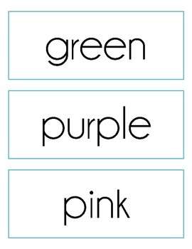 Numbers & Colors Sight Word Cards