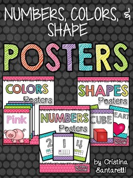 Numbers Colors and Shape Posters