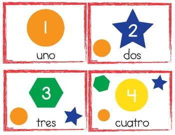 Numbers, Colors and Shapes