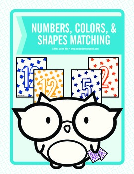 Numbers, Colors, and Shapes Multiple Use Matching Game
