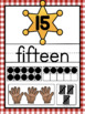 Numbers, Colors and Shapes Posters {Country Western Classroom Decor Theme}