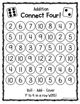 Numbers Connect Four
