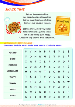 Numbers - Cookies and Snacks - Grade 1