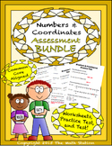Numbers & Coordinates Worksheets & Test - 6th Grade