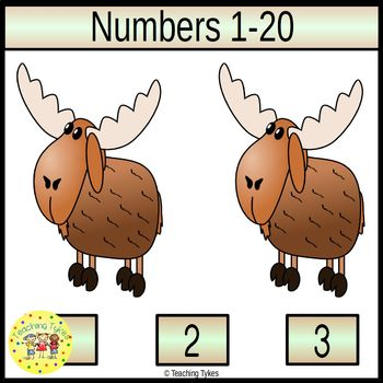 Numbers 1-20 Task Cards