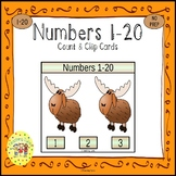Numbers 1-20 Count and Clip Task Cards