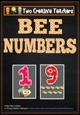 Numbers Counting Display in a Bee Theme