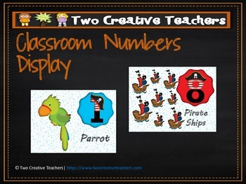 Numbers Counting Display in a Pirate Theme