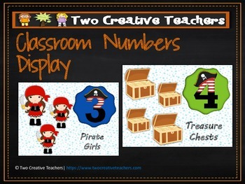 Numbers Counting Display in a Pirate Theme 2