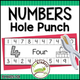 Numbers & Counting Hole Punch Cards