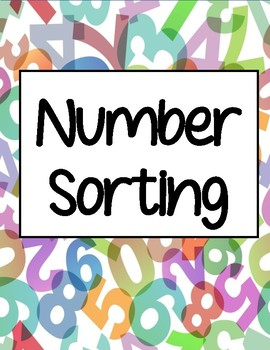 Numbers & Counting - Sorting Mats