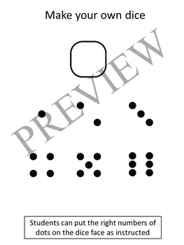Numbers Counting with Dice Clipart