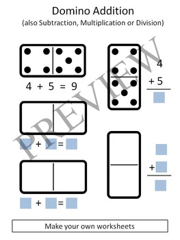 Numbers Counting with Domino / Dominoes Clipart
