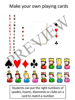 Numbers Counting with Playing Cards Clipart