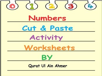Numbers Cut and Paste activity worksheets: