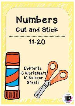 Numbers Cut and Stick 11-20