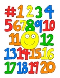 Numbers DESIGN Coloring Page