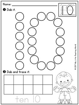 Numbers 0-20 Dab & Trace Worksheets