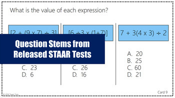 Decimals and Operations STAAR Task Cards #1