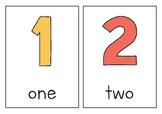 Numbers Display Cards 1-20