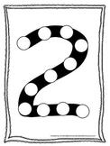 "Numbers Do a Dot number ""2"". Printable preschool daycare worksheet."
