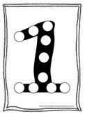 "Numbers Do a Dot number ""1"". Printable preschool daycare worksheet."