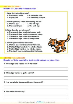 Numbers - Eight Baby Tigers - Grade 2