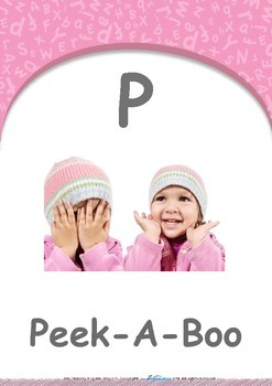 Numbers - Eight : Letter P : Peek-A-Boo - Pre-Nursery (1 year old)
