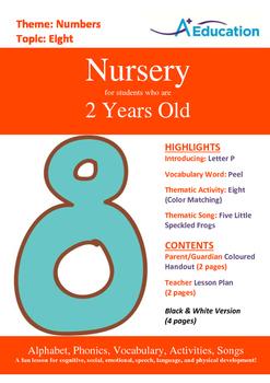 Numbers - Eight : Letter P : Peel - Nursery (2 years old)