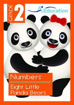 Numbers - Eight Little Panda Bears - Grade 2