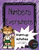 Numbers Everywhere - A Warm-up Math Activity