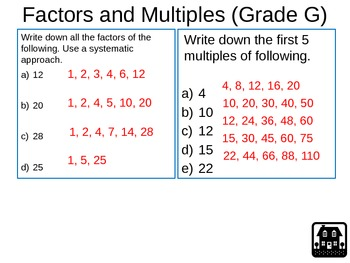 Numbers Exam Preparation Revision 2 Slides