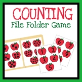 Numbers File Folder Game, Quiet Book Activity, Counting Printable Worksheet