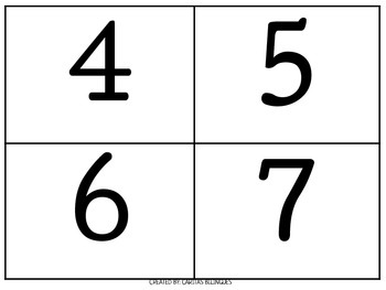 Numbers Flashcards