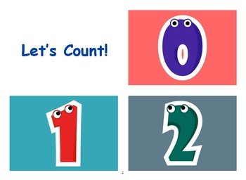 Numbers Flashcards with Vocabulary