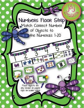Numbers Floor Strip 1-20