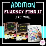 Addition Math Facts Fluency Find It