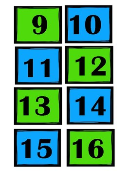 Numbers For Everything/Blue and Green