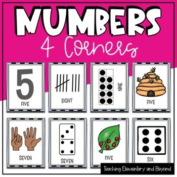 "Numbers ""Four Corners"" Game to Develop Number Sense Fluency"