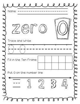 Numbers Fun! Math Activity Packet 0-10