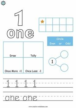 Math Worksheets - 0 - 100