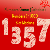 ESL Slot Machine Numbers Game - 11 NUMBERS FROM 1-1000 *FULLY ANIMATED*