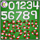 Numbers Game Boards Clip Art ♦ Christmas Edition