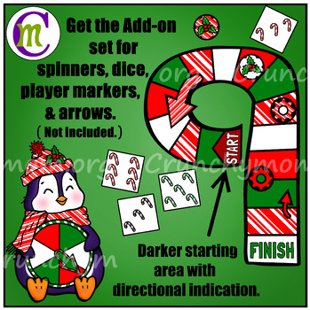 Numbers Game Boards Clip Art Christmas Edition