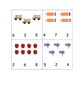 Numbers Game:  Count and Clip Cards (Common Core Aligned)
